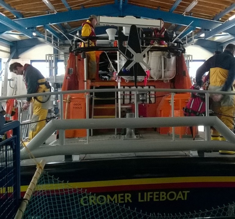 Cromer lifeboat back in the station