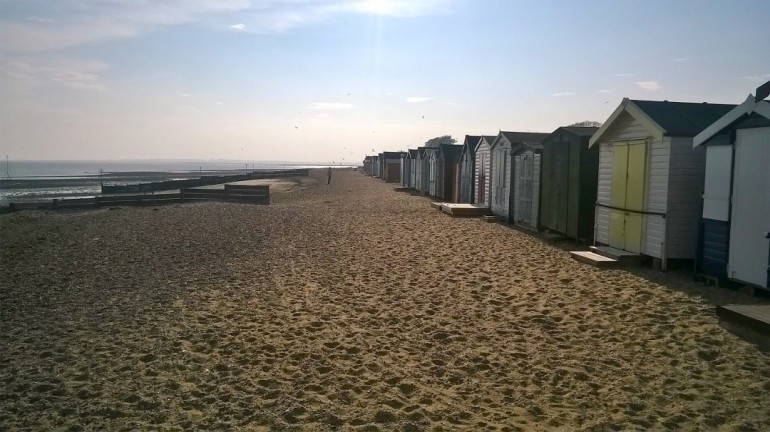 Mersea Island beech huts 2
