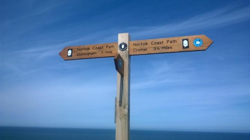 Norfolk Coastal path sign