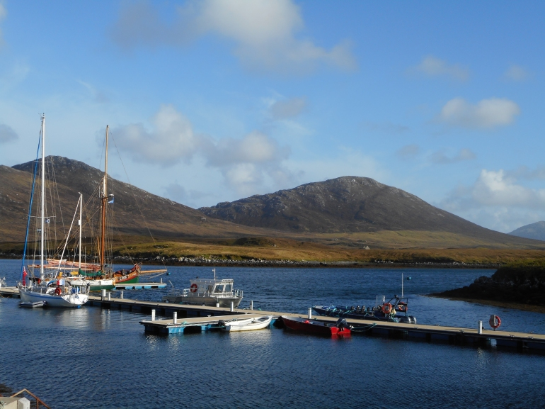 Loch Maddy, North Uist, Hebrides, pontoon morring and other boats!