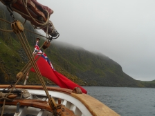 Shiant Isles from the stern of Eda Frandsen