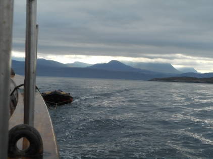 Sailing around Skye, Eda Frandsen pulling a tender