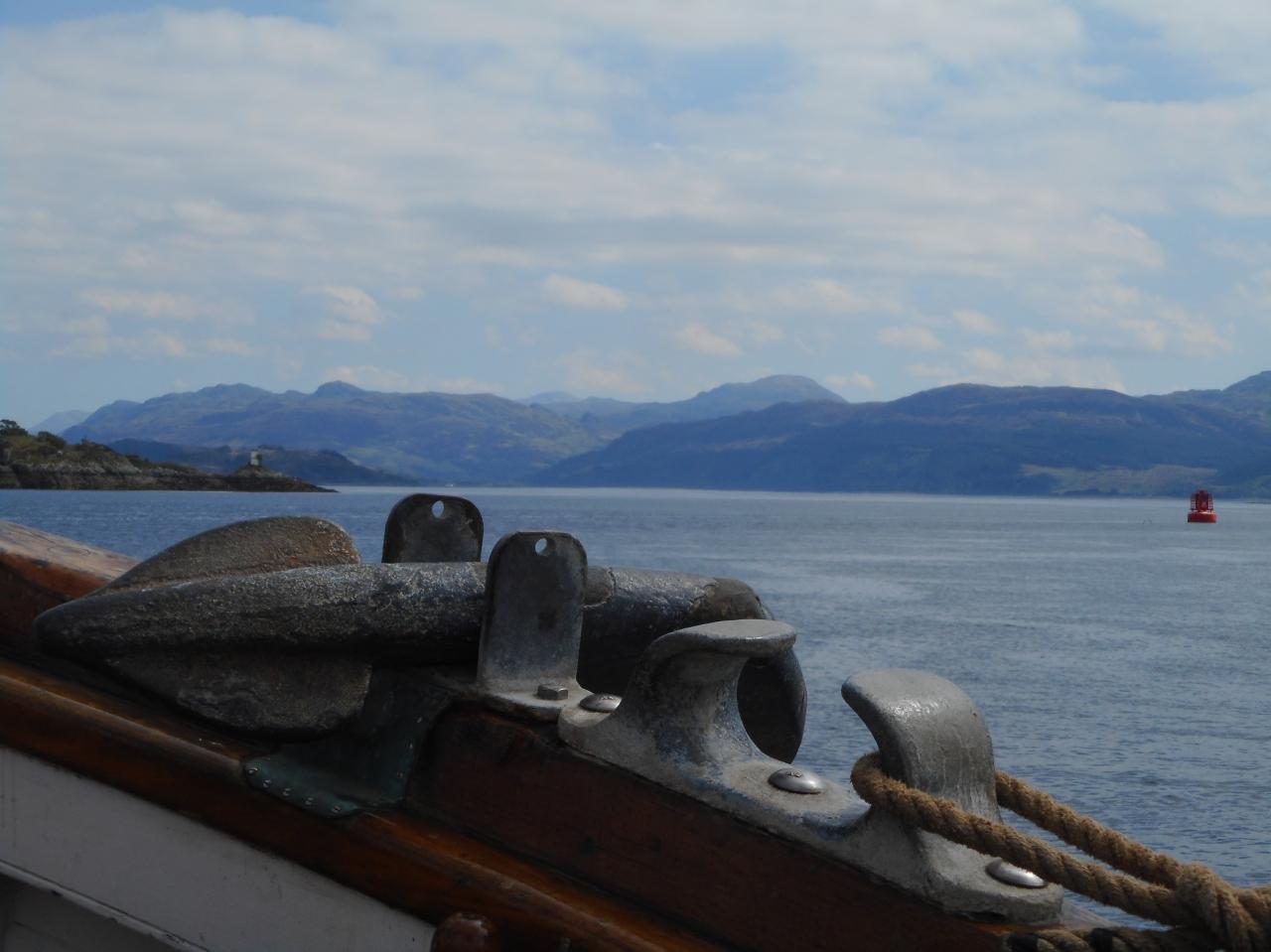 View over Eda Frandsen's anchor