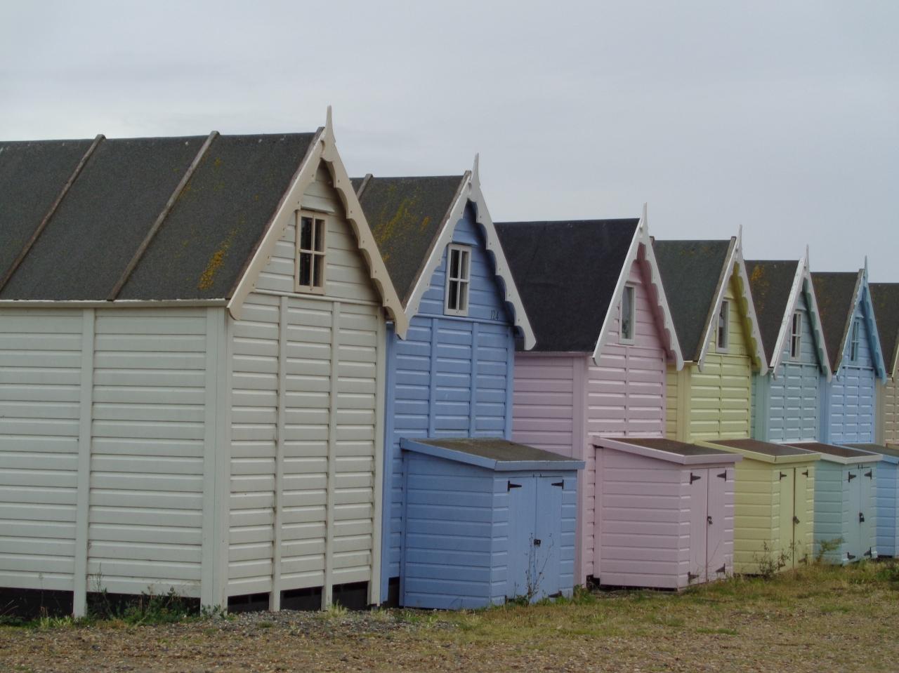Beach huts, Mersea Island, Essex