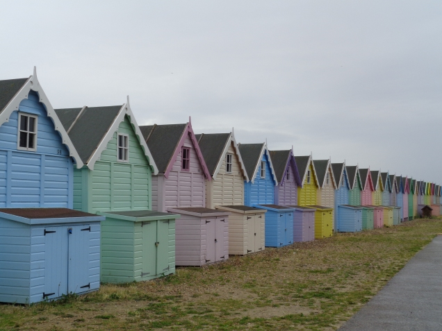 Beach huts Mersea Island, Essex