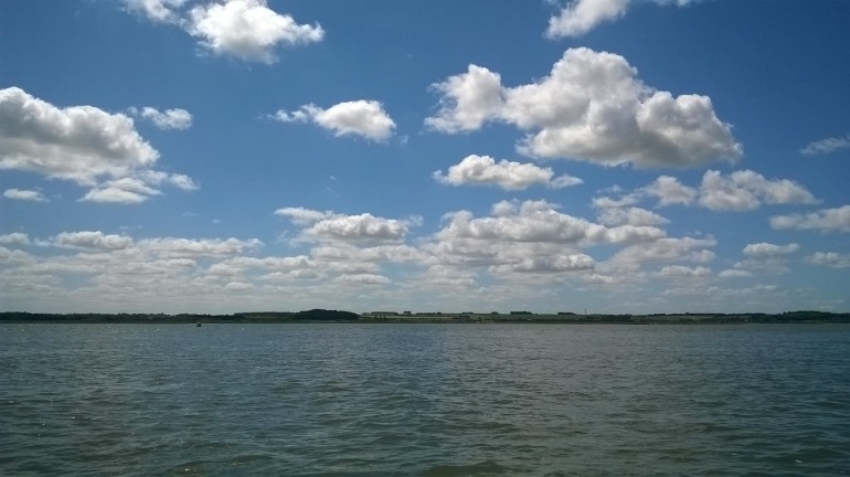 View towards Blakney from sea, July 2017