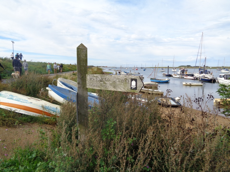 Norfolk Coastal Path from Wells-next-the-sea harbour August 2017