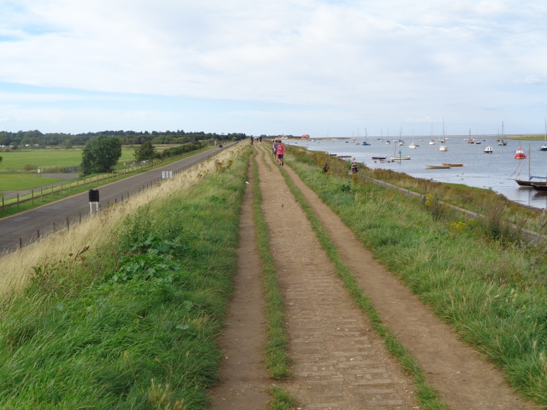 Norfolk Coastal path to Wells-next-the-sea beach August 2017