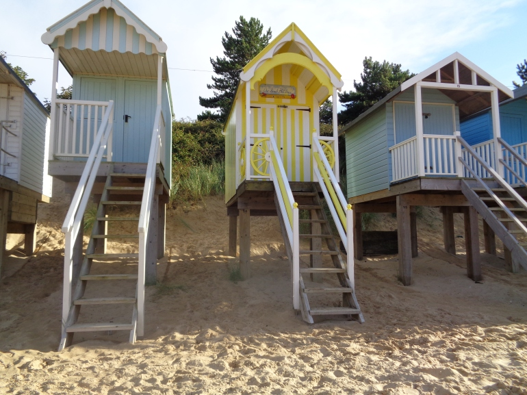 Beach huts, August 2017, Wells-next-the-sea