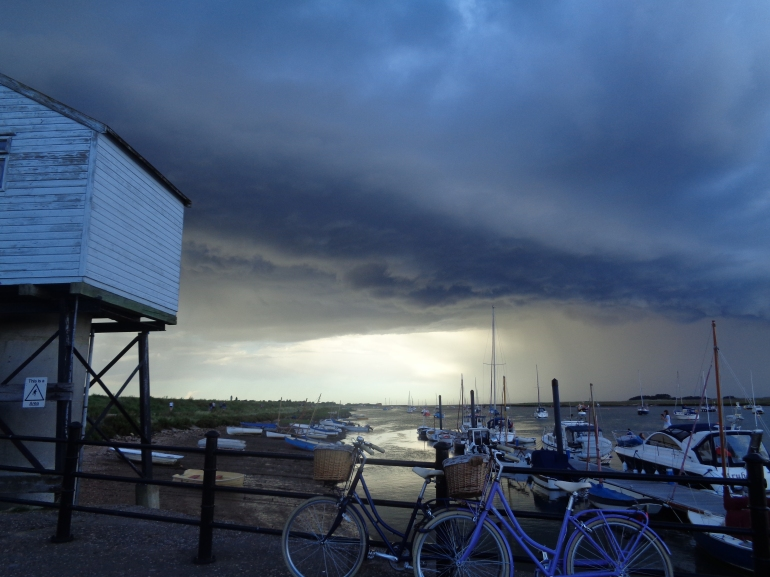 Thunder storm, seen from Wells-next-the-sea harbour, August 2017