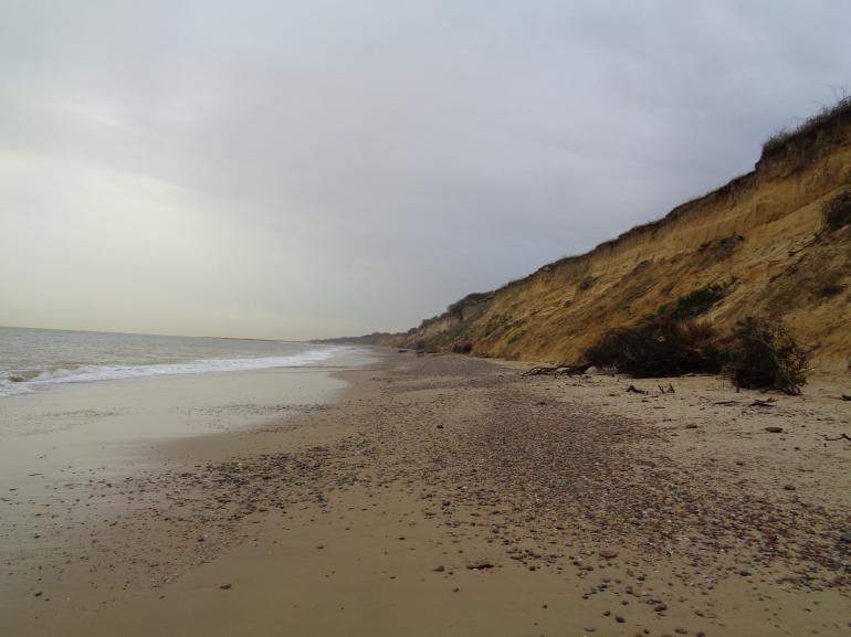 Kessingland, crumbling cliffs