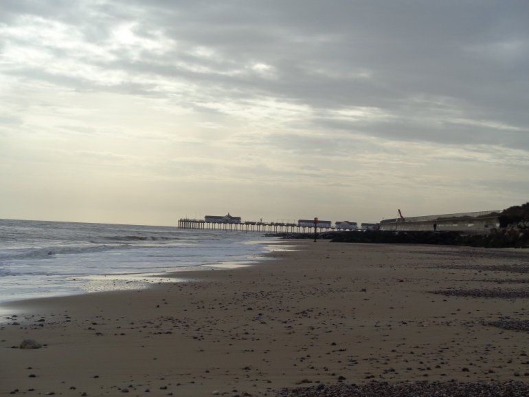 Southwold pier, visible for miles before you reach it